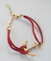 45 Commando Ladies Red Fouled Anchor Bracelet